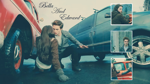 edward y bella fondo de pantalla possibly containing a chuck wagon, a lippizan, and a covered wagon entitled Edward and Bella Fanart