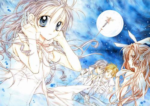 Full Moon wo Sagashite 바탕화면 probably containing 아니메 titled Eichi,Takuto,Meroko,and Misuki