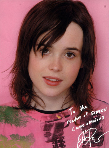 Ellen Page wallpaper probably with a dashiki and a portrait entitled Ellen