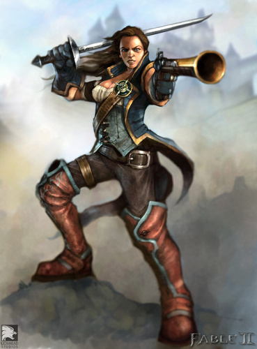 "Fable 2 concept art ""Good Female"""