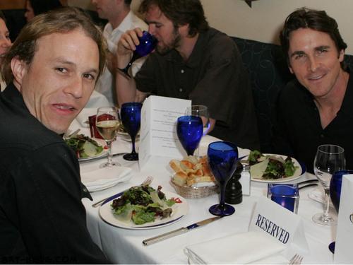 Heath Ledger and Christian Bale