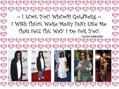 Whoopi Goldberg wallpaper possibly containing anime titled I Love Whoopi Goldberg