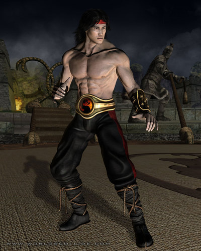 Mortal Kombat wallpaper with a hip boot entitled Liu Kang