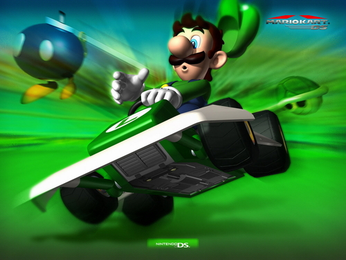 Mario Kart वॉलपेपर entitled Luigi