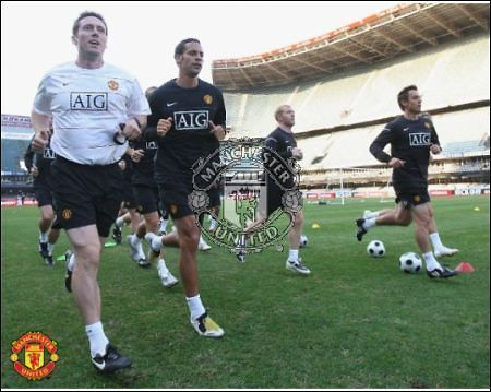 Man Utd in Training