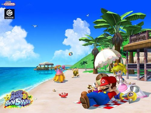 Mario Sunshine - Beach - super-mario-bros Wallpaper
