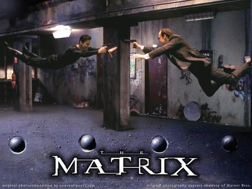 The Matrix 壁紙 probably with a sign, a guillotine, and a penal institution titled Matrix