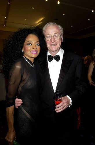 Michael Caine and Diana Ross