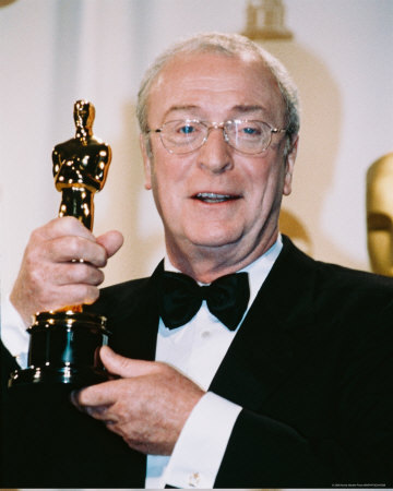 Michael Caine with Oscar for Cider House Rules