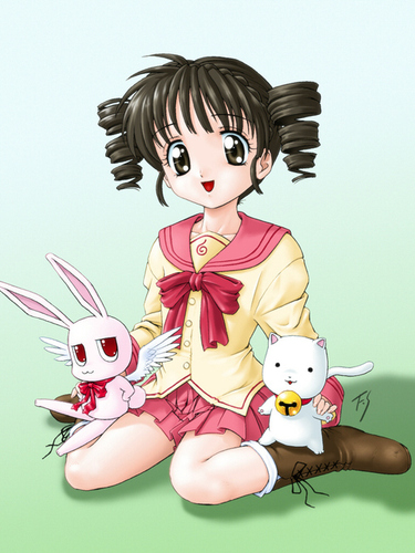 Full Moon wo Sagashite 바탕화면 called Mitsuki,Meroko, and Takuto