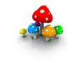 Mushrooms - bits-and-pieces wallpaper