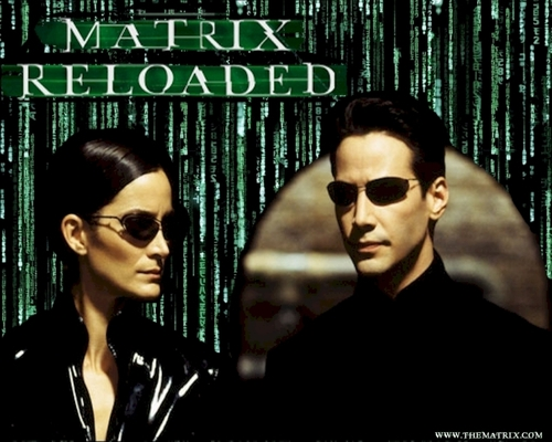 The Matrix fond d'écran containing sunglasses titled Neo and Trinity