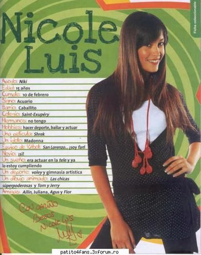 patito feo hình nền containing a portrait called Nicole Luis (Luciana)
