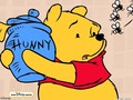 Pooh &amp; Hunny Pot - winnie-the-pooh wallpaper