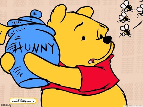 winnie the pooh wallpaper containing anime entitled Pooh & Hunny Pot