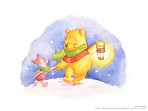 クマのプーさん 壁紙 called Pooh & Piglet Walking
