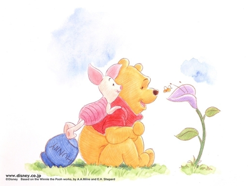 O Ursinho Puff wallpaper called Pooh & Piglet