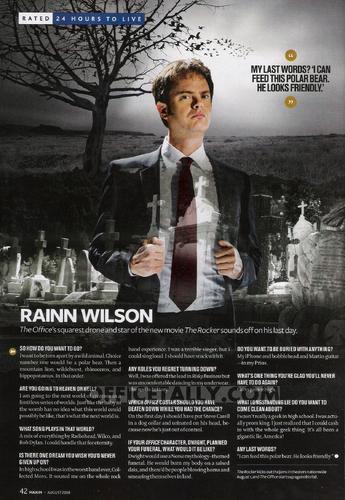Rainn Wilson in 'Maxim'