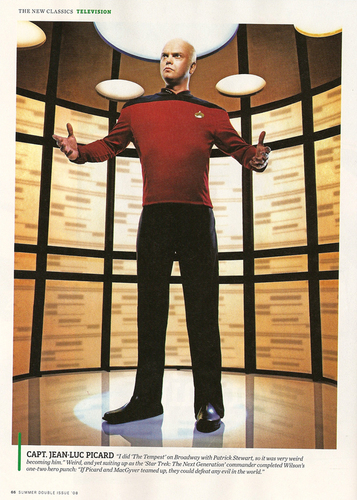 Rainn as Captain Picard in Entertainment Weekly Scan