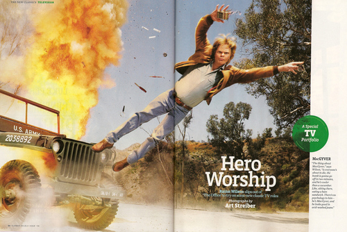 Rainn as McGyver in Entertainment Weekly Scan