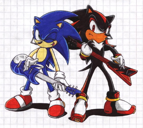 Shadow The Hedgehog kertas dinding with Anime called Rock on
