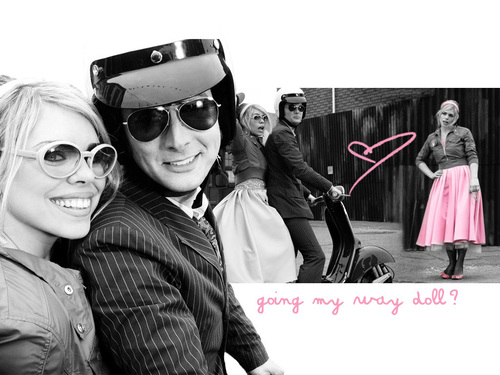 Doctor Who kertas dinding with sunglasses titled Rose & Doctor