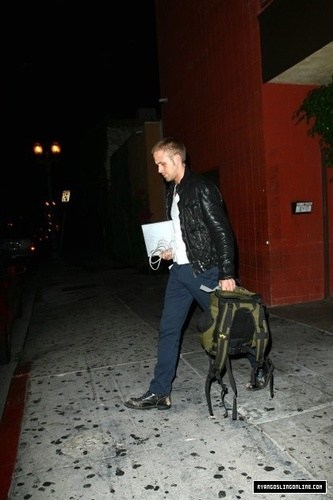 Ryan Leaving the Green Door