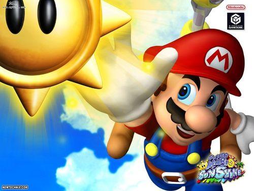 Super Mario Hintergrund entitled Sunshine Mario