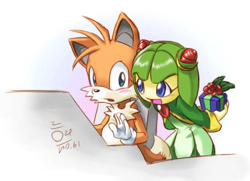 Tails and Cosmo wallpaper probably containing anime entitled Tails and Cosmo