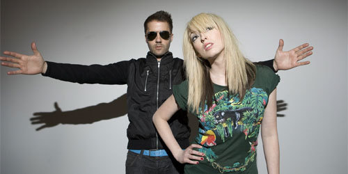 the ting tings Hintergrund possibly containing a cocktail dress entitled The Ting Tings