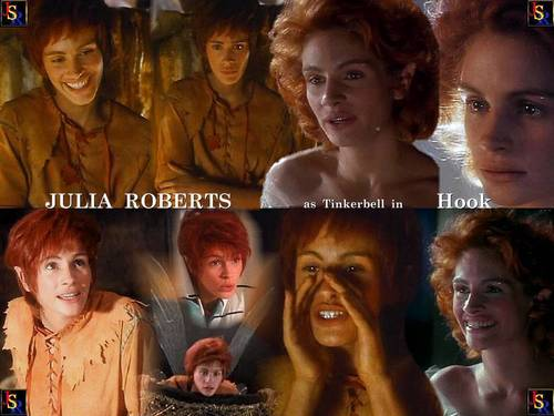Hook wallpaper probably containing a portrait called Tinkerbell-Julia Roberts