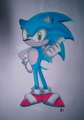 Watercolor Sonic the Hedgehog