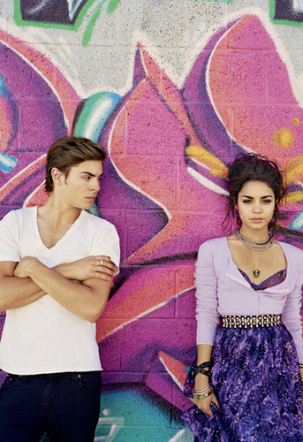 Zac Efron & Vanessa Hudgens wallpaper probably with a parasol titled Zanessa Elle Magazine Photoshoot