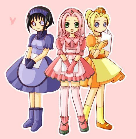 ino, sakura, and hinata