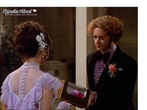 Jackie & Hyde Обои probably containing a business suit and a bouquet called jackie hyde
