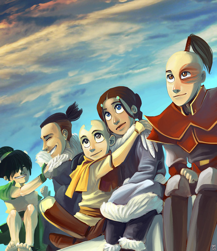 "Avatar: The Last Airbender wallpaper possibly containing anime called ""Friends for a Lifetime"""