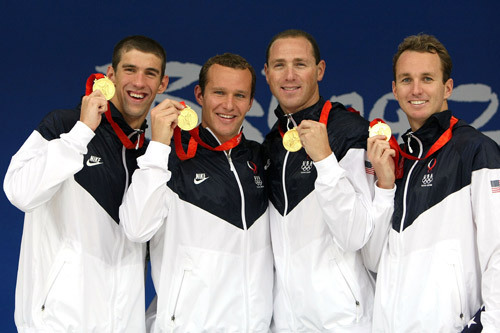 US wins Men's 4 x 100m Medley Relay 金牌 with new WR