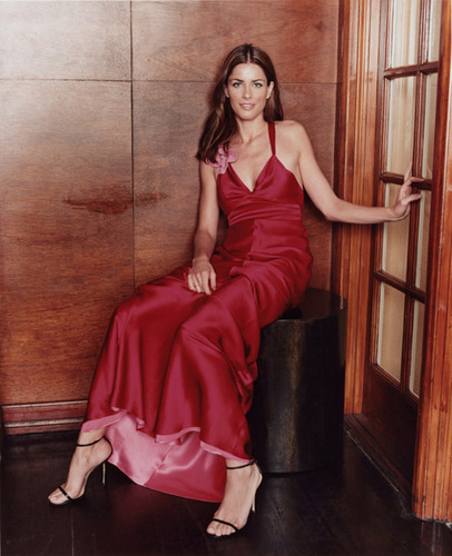 Amanda Peet wallpaper containing a dinner dress and a cocktail dress entitled Amanda