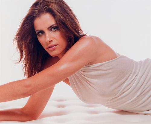 Amanda Peet wallpaper containing skin and a portrait titled Amanda