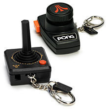 Atari and Pog Keychain