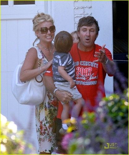 Britney with her Kids