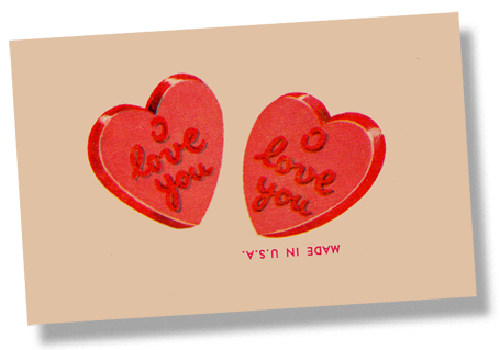 kẹo Hearts Card