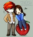 Chibbi Edward and Bella ♥ - twilight-series fan art
