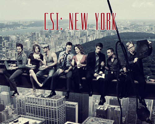 CSI:NY پیپر وال probably containing a sign titled Csi ny
