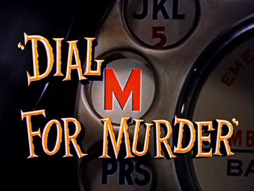 Dial M For Murder movie pamagat screen