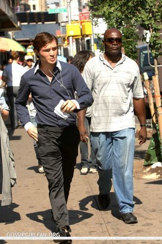 Ed Filming Gossip Girl