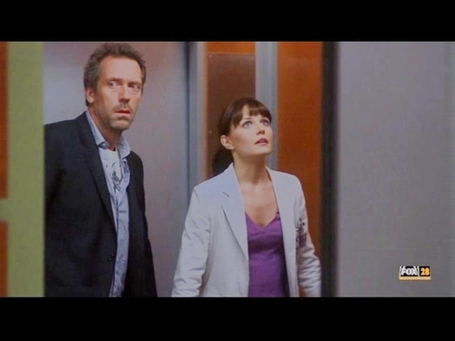 House and Cam in the Elevator *-*
