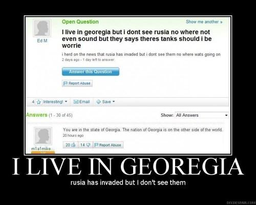 I Live In Georgia...