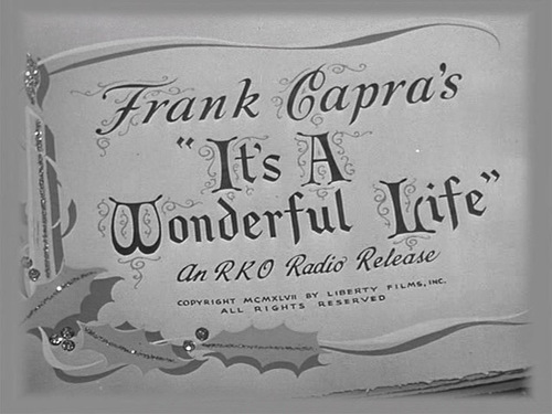 It's A Wonderful Life movie عنوان screen
