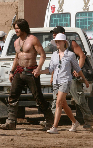 Jake on Set - Prince of Persia: The Sands of Time